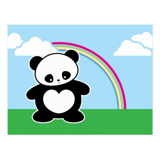 Panda de Kawaii Tarjetas Postales