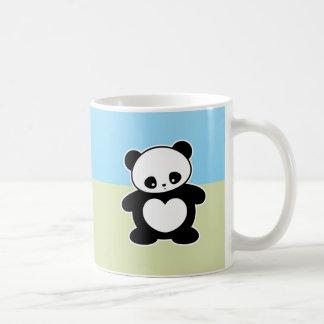 Panda de Kawaii Taza Básica Blanca