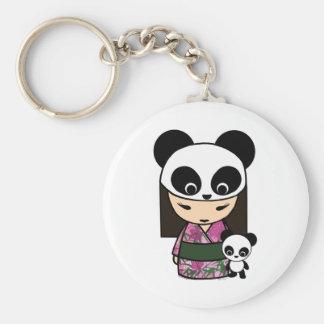Panda de Kokeshi por MonkeyHut Llavero Redondo Tipo Pin