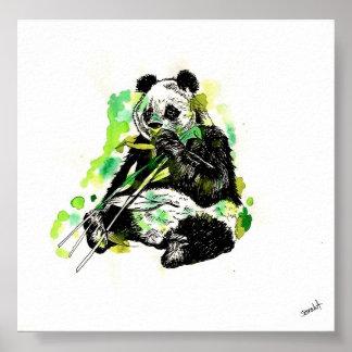 Panda de la acuarela impresiones