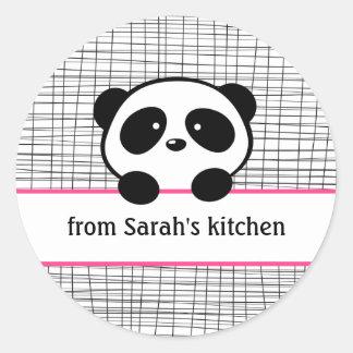 Panda de la cocina de pegatinas pegatina redonda