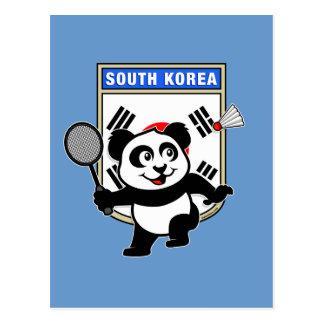 Panda de la Corea del Sur del bádminton Postal