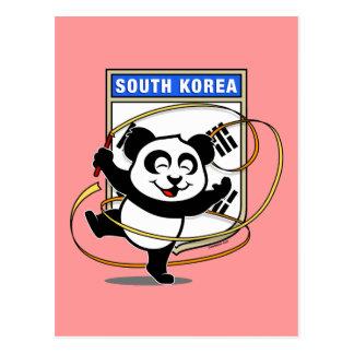 Panda de la gimnasia rítmica de la Corea del Sur Tarjetas Postales