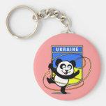 Panda de la gimnasia rítmica de Ucrania Llavero Personalizado
