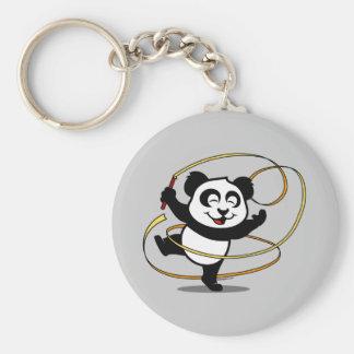 Panda de la gimnasia rítmica llavero personalizado