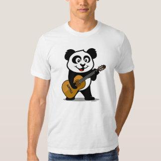 Panda de la guitarra (camisetas ligero) remera