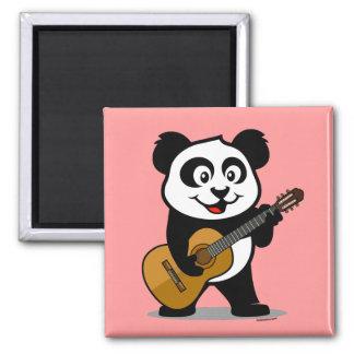 Panda de la guitarra iman de nevera