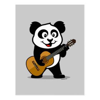 Panda de la guitarra postales