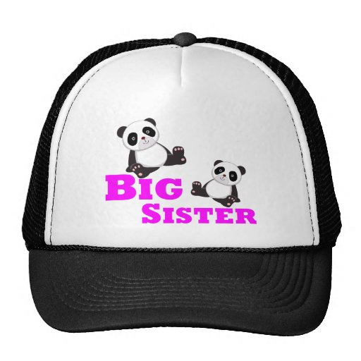 Panda de la hermana grande gorras