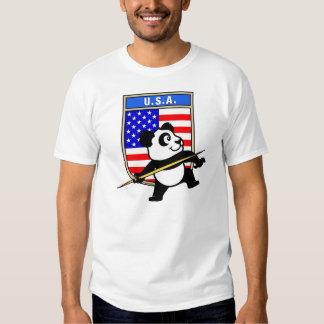 Panda de la jabalina de los E.E.U.U. Remeras