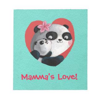 Panda de la madre con el bebé bloc