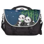 Panda de la noche de la estrella bolsas de ordenador