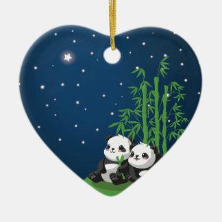 Panda de la noche de la estrella ornamente de reyes