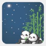 Panda de la noche de la estrella etiquetas