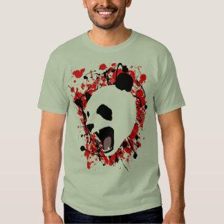 Panda de la salpicadura de la sangre poleras