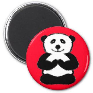 Panda de la yogui - imanes de la panda imán redondo 5 cm