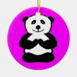 Panda de la yogui - ornamentos únicos del navidad ornamente de reyes
