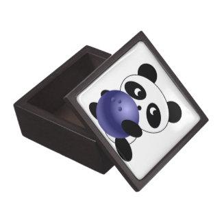 Panda de los bolos cajas de recuerdo de calidad