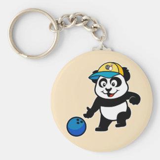 Panda de los bolos llavero