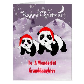 Panda de los días de fiesta del navidad de Specia Tarjeta De Felicitación Grande