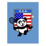 Panda de los E.E.U.U. del bádminton Tarjeta Postal