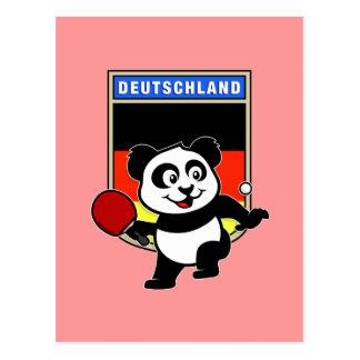 Panda de los tenis de mesa de Alemania Tarjetas Postales
