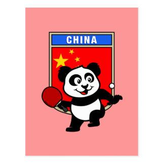 Panda de los tenis de mesa de China Tarjetas Postales
