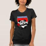 Panda de los tenis de mesa de Indonesia Camisetas