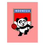 Panda de los tenis de mesa de Indonesia Postales