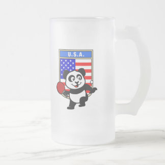 Panda de los tenis de mesa de los E.E.U.U. Taza De Cristal