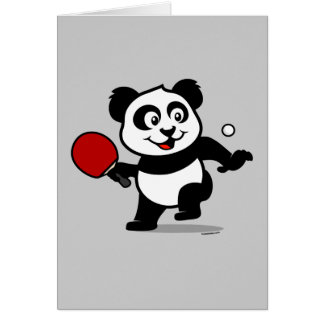 Panda de los tenis de mesa tarjeta de felicitación