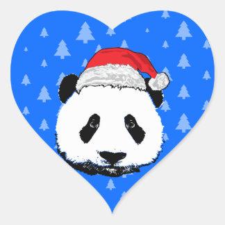 Panda de Navidad Pegatinas Corazon