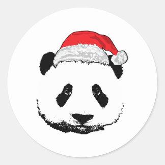 Panda de Navidad Pegatinas