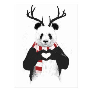 Panda de Navidad Postal