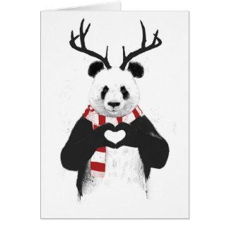 Panda de Navidad Tarjeta De Felicitación