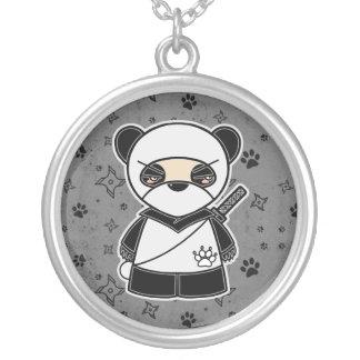 ¡Panda de Ninja! Collar del gris de Ninjadorables