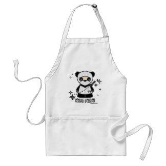 ¡Panda de Ninja! Con el delantal de Shurikens