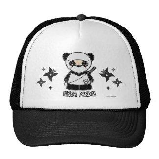 ¡Panda de Ninja! Con el gorra de Shurikens