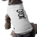 ¡Panda de Ninja! Ropa del mascota Camisetas De Perro