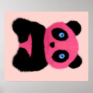 Panda de ojos azules rosada impresiones