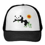 Panda. de reclinación gorros bordados