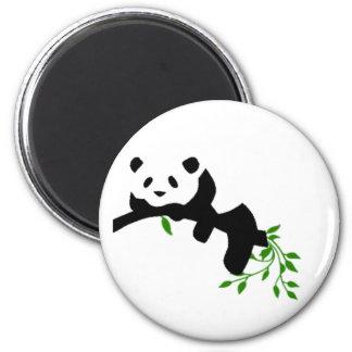 Panda. de reclinación imanes para frigoríficos