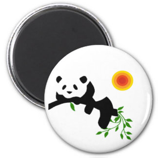 Panda. de reclinación imanes de nevera