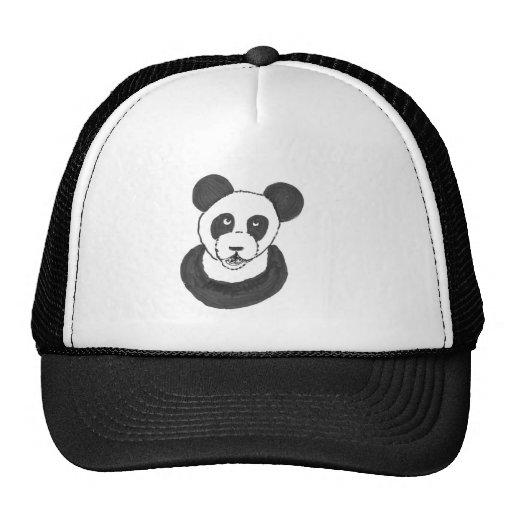 Panda de risa gorros