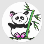 Panda de Sakura Pegatina