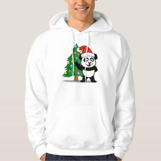 Panda de Santa (camisetas ligero) Jersey Con Capucha