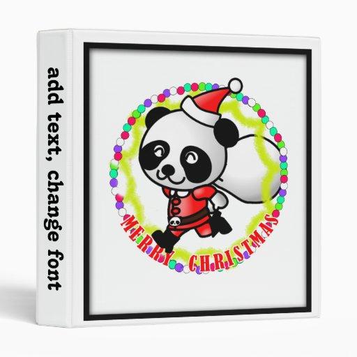 Panda de Santa de las Felices Navidad