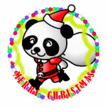 Panda de Santa de las Felices Navidad Esculturas Fotográficas