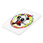 Panda de Santa de las Felices Navidad Iman Flexible