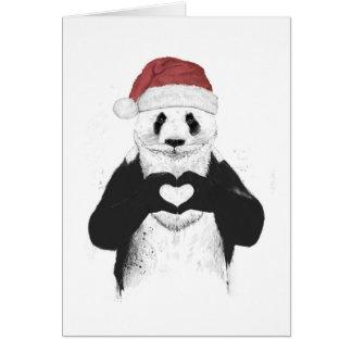 Panda de Santa Tarjeta De Felicitación